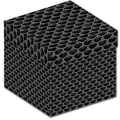 Scales3 Black Marble & Gray Denim (r) Storage Stool 12   by trendistuff