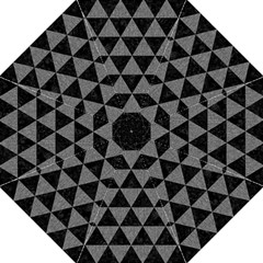 Triangle3 Black Marble & Gray Denim Hook Handle Umbrellas (large) by trendistuff