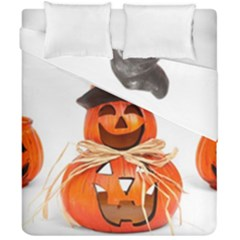 Funny Halloween Pumpkins Duvet Cover Double Side (california King Size) by gothicandhalloweenstore