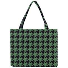Houndstooth1 Black Marble & Green Denim Mini Tote Bag by trendistuff