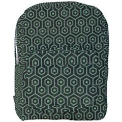 Hexagon1 Black Marble & Green Denim (r) Full Print Backpack by trendistuff