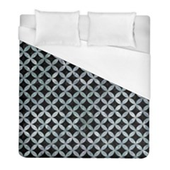 Circles3 Black Marble & Ice Crystals (r) Duvet Cover (full/ Double Size) by trendistuff