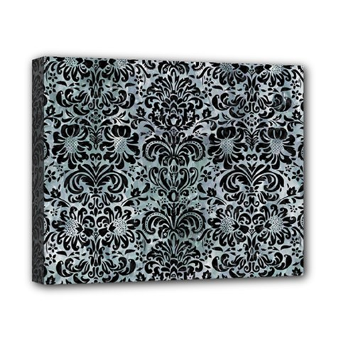 Damask2 Black Marble & Ice Crystals Canvas 10  X 8  by trendistuff