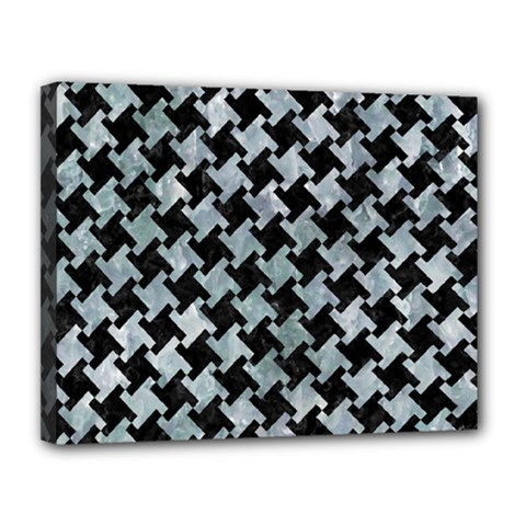 Houndstooth2 Black Marble & Ice Crystals Canvas 14  X 11  by trendistuff