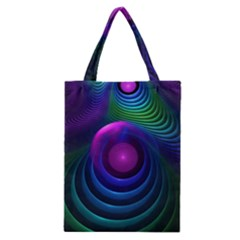 Beautiful Rainbow Marble Fractals In Hyperspace Classic Tote Bag by beautifulfractals
