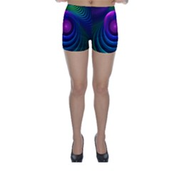 Beautiful Rainbow Marble Fractals In Hyperspace Skinny Shorts by beautifulfractals