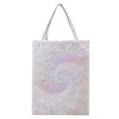Mother Of Pearls Luxurious Fractal Spiral Necklace Classic Tote Bag by beautifulfractals