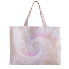 Mother Of Pearls Luxurious Fractal Spiral Necklace Zipper Mini Tote Bag by beautifulfractals