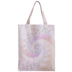 Mother Of Pearls Luxurious Fractal Spiral Necklace Zipper Classic Tote Bag by beautifulfractals