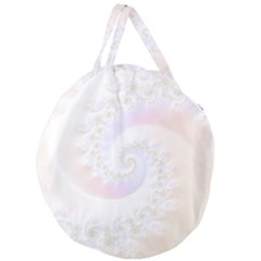 Mother Of Pearls Luxurious Fractal Spiral Necklace Giant Round Zipper Tote by beautifulfractals