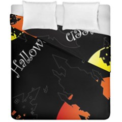 Castil Witch Hlloween Sinister Night Home Bats Duvet Cover Double Side (california King Size) by Alisyart