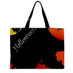 Castil Witch Hlloween Sinister Night Home Bats Medium Tote Bag by Alisyart