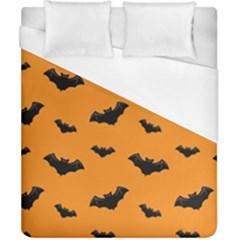 Halloween Bat Animals Night Orange Duvet Cover (california King Size) by Alisyart