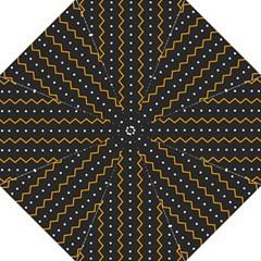 Halloween Zigzag Vintage Chevron Ornamental Cute Polka Dots Golf Umbrellas by Alisyart