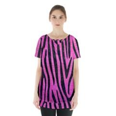 Skin4 Black Marble & Pink Brushed Metal (r) Skirt Hem Sports Top by trendistuff