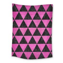 Triangle3 Black Marble & Pink Brushed Metal Medium Tapestry by trendistuff