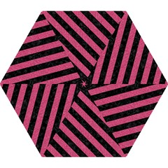 Stripes3 Black Marble & Pink Denim Mini Folding Umbrellas by trendistuff