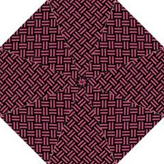 Woven2 Black Marble & Pink Denim (r) Hook Handle Umbrellas (large) by trendistuff