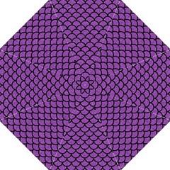 Scales1 Black Marble & Purple Denim Straight Umbrellas by trendistuff