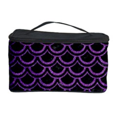 Scales2 Black Marble & Purple Denim (r) Cosmetic Storage Case by trendistuff