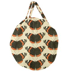 Butterfly Butterflies Insects Giant Round Zipper Tote by Celenk