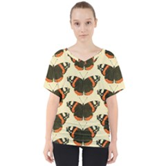 Butterfly Butterflies Insects V Neck Dolman Drape Top