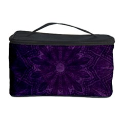 Background Purple Mandala Lilac Cosmetic Storage Case by Celenk