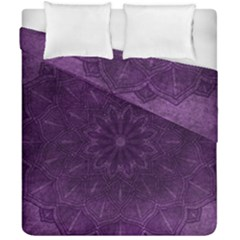 Background Purple Mandala Lilac Duvet Cover Double Side (california King Size) by Celenk