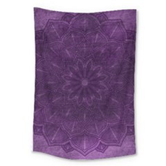 Background Purple Mandala Lilac Large Tapestry by Celenk