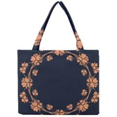 Floral Vintage Royal Frame Pattern Mini Tote Bag by Celenk