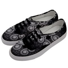 Fractal Filigree Lace Vintage Men s Classic Low Top Sneakers by Celenk