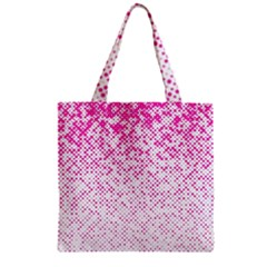 Halftone Dot Background Pattern Zipper Grocery Tote Bag by Celenk