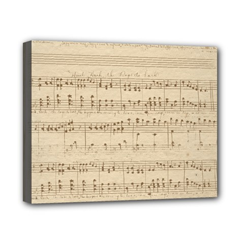 Vintage Beige Music Notes Canvas 10  X 8  by Celenk