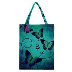 Texture Butterflies Background Classic Tote Bag by Celenk