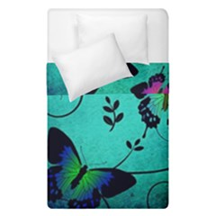 Texture Butterflies Background Duvet Cover Double Side (single Size) by Celenk