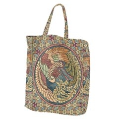Wings Feathers Cubism Mosaic Giant Grocery Zipper Tote