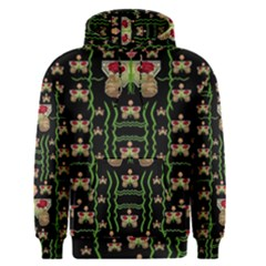 Roses In The Soft Hands Makes A Smile Pop Art Men s Pullover Hoodie