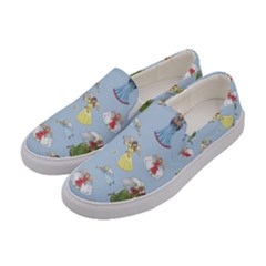 Christmas Angels  Women s Canvas Slip Ons by Valentinaart