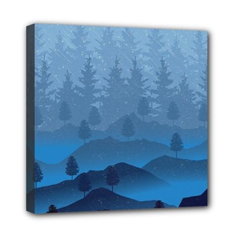 Blue Mountain Mini Canvas 8  X 8  by berwies