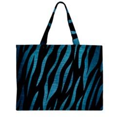 Skin3 Black Marble & Teal Brushed Metal (r) Zipper Mini Tote Bag by trendistuff