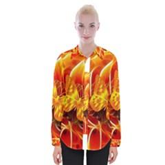 Arrangement Butterfly Aesthetics Orange Background Womens Long Sleeve Shirt