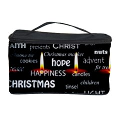 Candles Christmas Advent Light Cosmetic Storage Case by Celenk