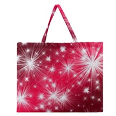 Christmas Star Advent Background Zipper Large Tote Bag by Celenk