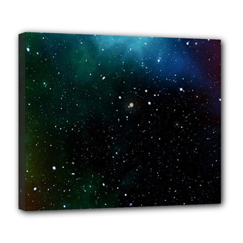 Galaxy Space Universe Astronautics Deluxe Canvas 24  X 20   by Celenk
