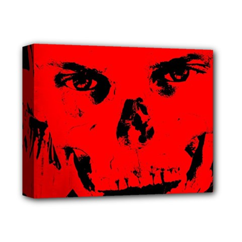Halloween Face Horror Body Bone Deluxe Canvas 14  X 11  by Celenk