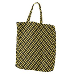 Woven2 Black Marble & Yellow Denim (r) Giant Grocery Zipper Tote by trendistuff