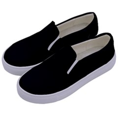 Black Gothic Kids  Canvas Slip Ons by Costasonlineshop