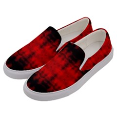 Red Black Gothic Pattern Men s Canvas Slip Ons by Costasonlineshop