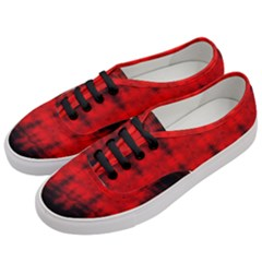 Red Black Gothic Pattern Women s Classic Low Top Sneakers by Costasonlineshop