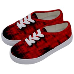 Red Black Gothic Pattern Kids  Classic Low Top Sneakers by Costasonlineshop